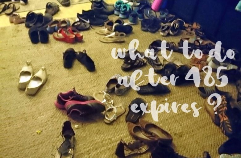 after-485-expires-what-to-do shoes on a floor