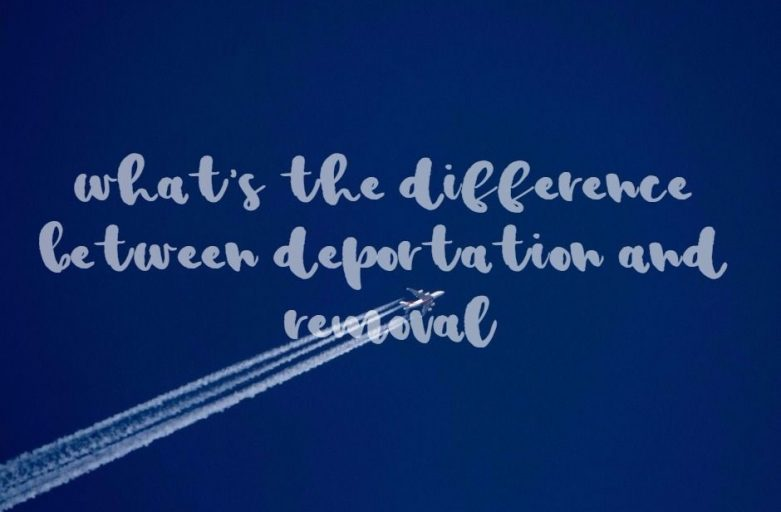 difference between deportation and removal plane on the sky