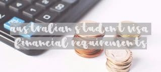 Australian-Student-Visa-Financial-Requirements calculator and money