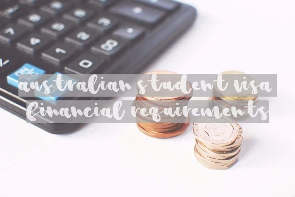 Australian Student Visa Financial Requirements