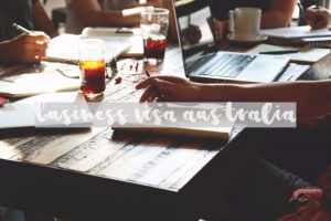 business-visa-australia wooden table meeting