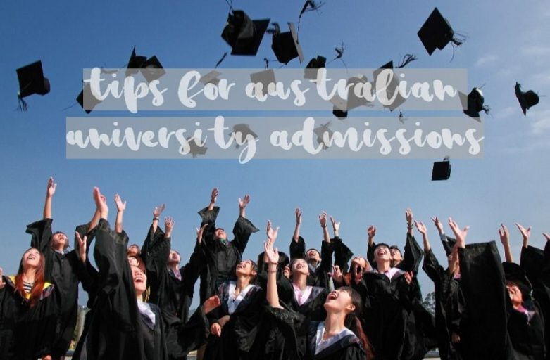 tips for australian university admissions hats up