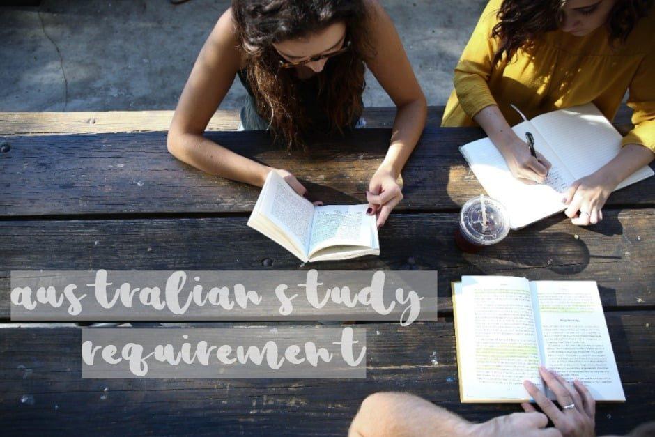 Australian study requirement ?