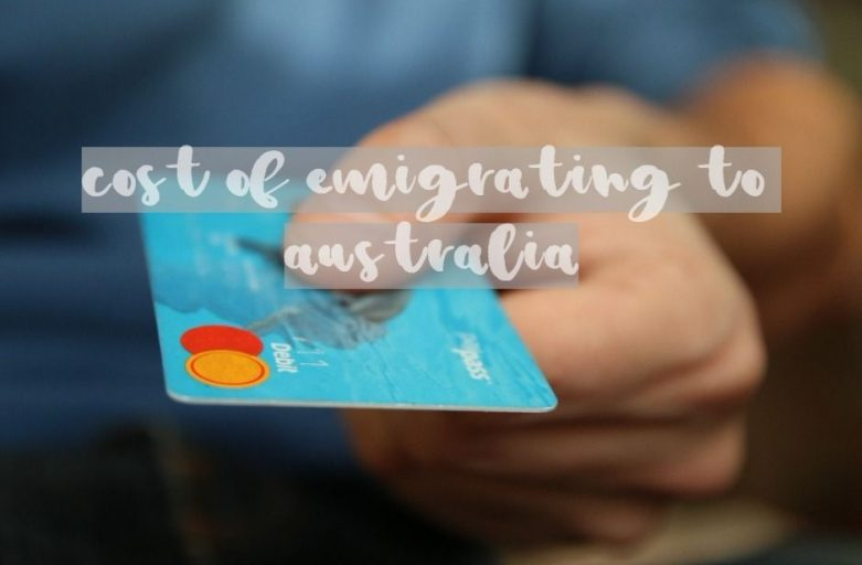 cost of emigrating to australia bank card