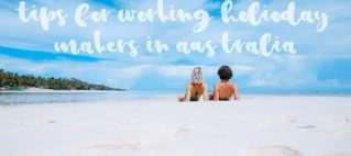 tips for working holiday makers in australia couple on a beach