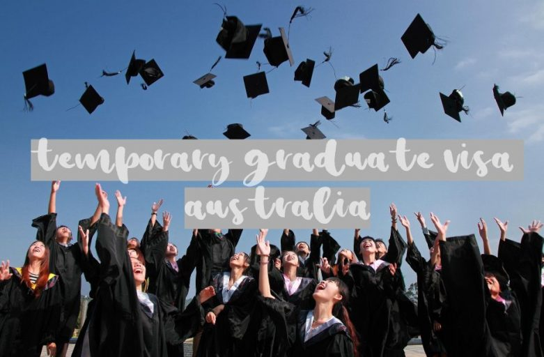 Temporary graduate visa Australia students throwing hats in the air