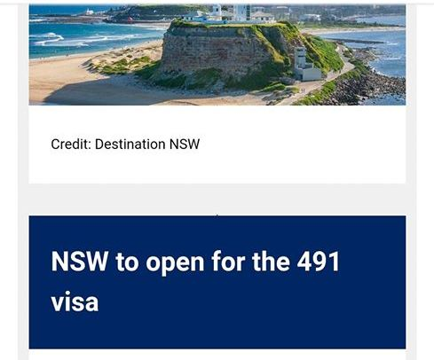 NSW will open 491 nominations 15 June 2020 for a week