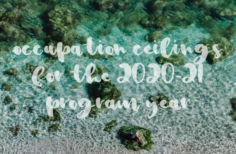 Occupation-ceilings-2020-21-program-year sand and sea